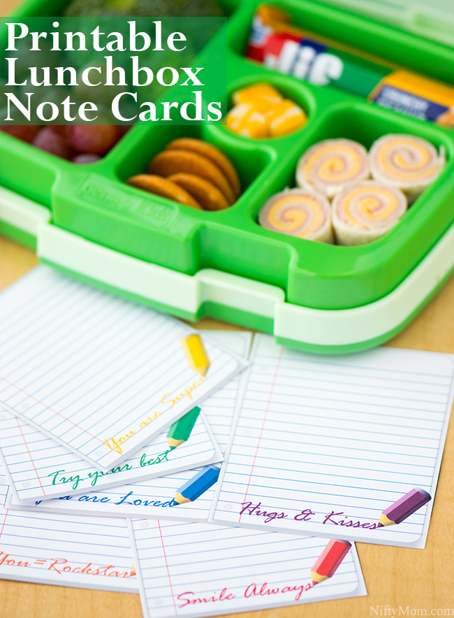 Printable Lunchbox Note Cards #TeamJif