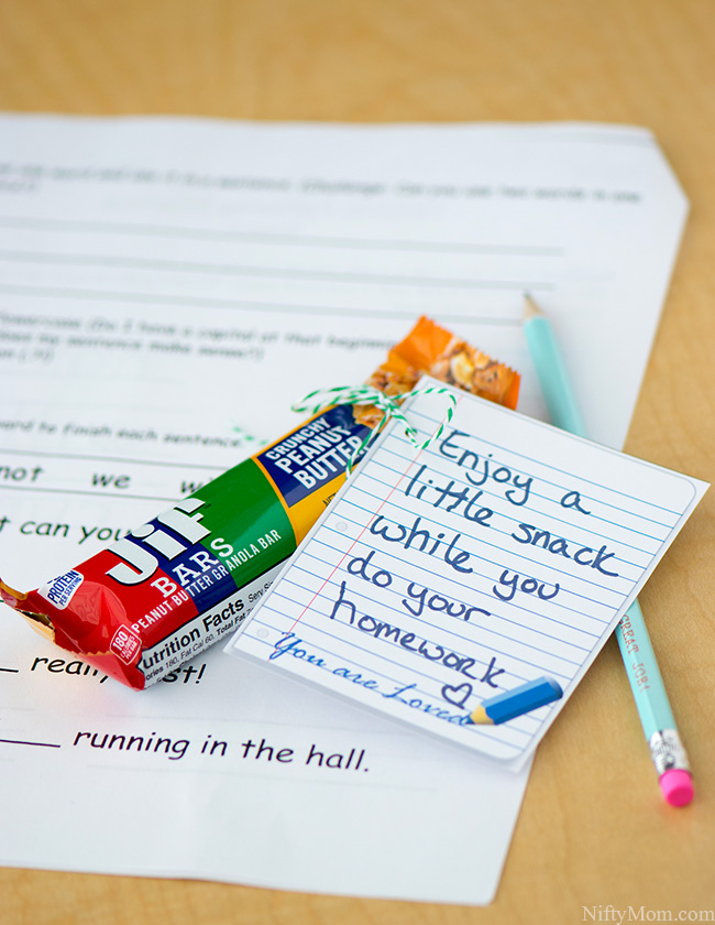 Printable After School Snack Notes #TeamJif