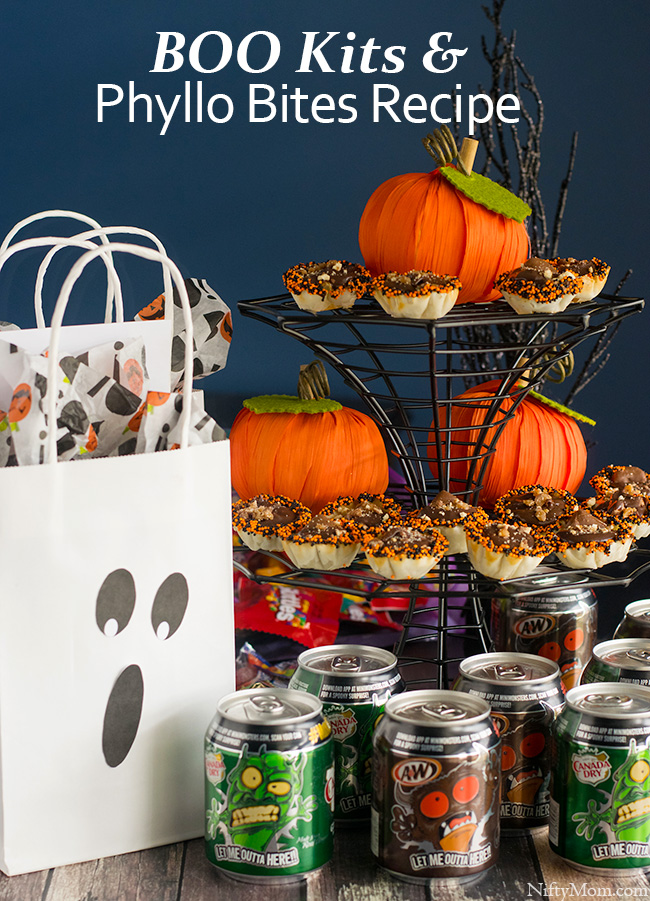 Halloween Ideas - BOO Kits & Phyllo Bites #BOOItForward