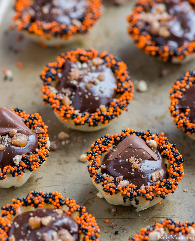 No Bake Halloween Dessert - Mini Phyllo Bites #BooItForward