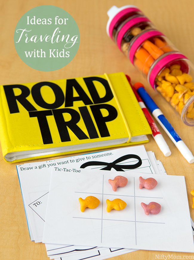 Ideas for Traveling with Kids including a DIY 4x6 Activity Book with Printables #GoldfishCrowd