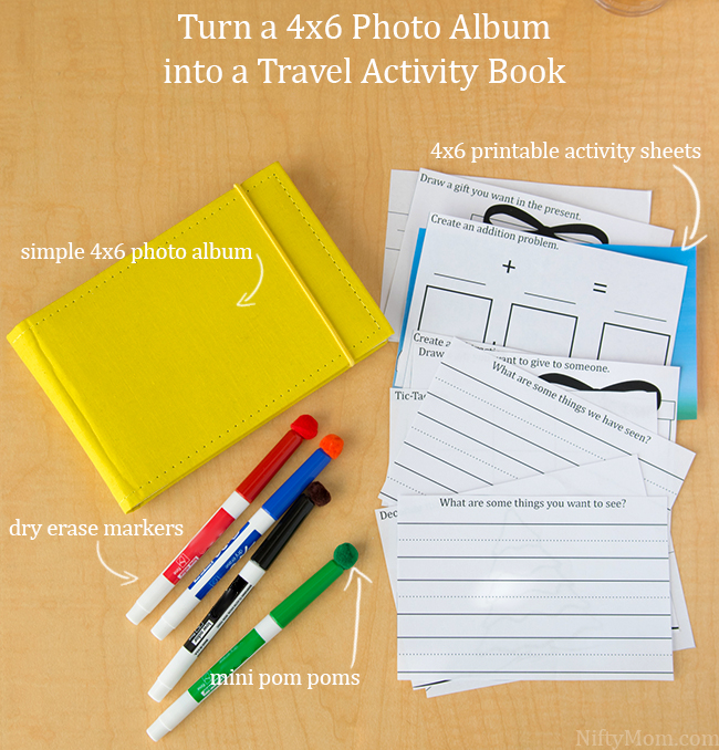 Turn a 4x6 Photo Album into a Travel Activity Book with FREE Printables #GoldfishCrowd