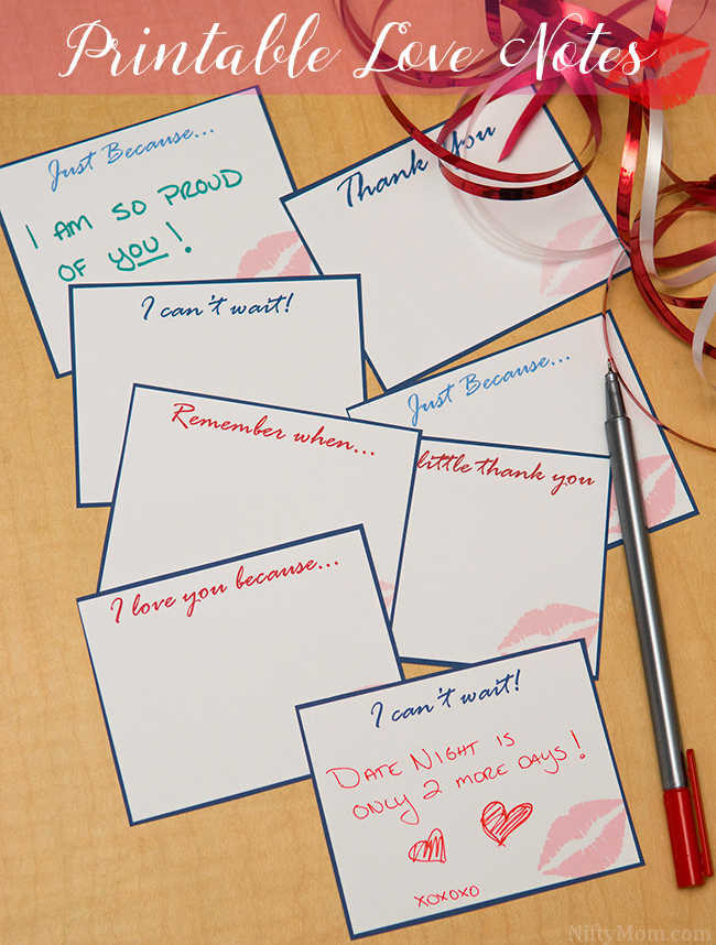 It's just an image of Priceless Printable Love Notes