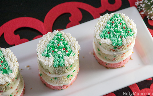 Mini Peppermint Layered Christmas Cake