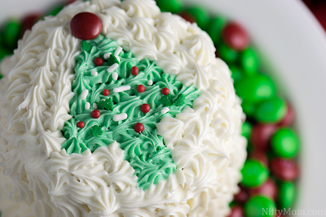 Mini Layered Peppermint Cakes for Christmas