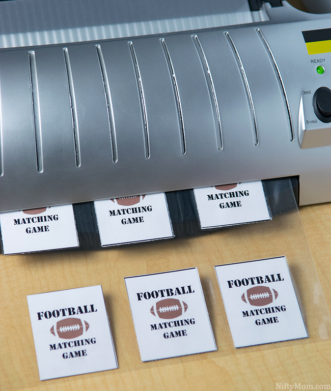 DIY Football Matching Game for Kids