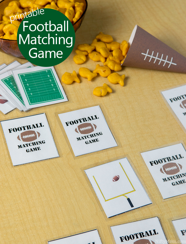 Free Printable Football Matching Game