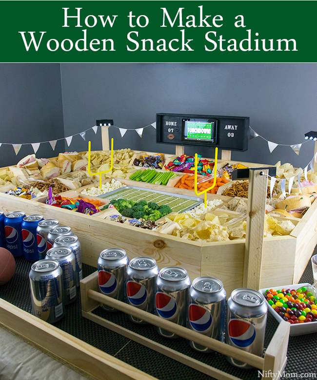 How to Make a Wooden Snack Stadium to use Every Year