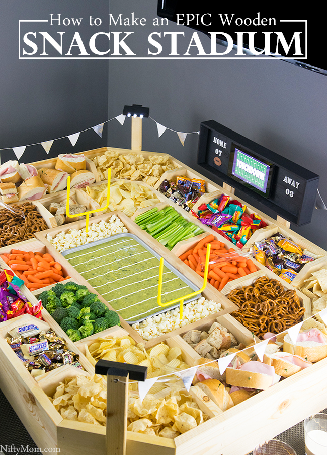 How to Make an Epic Reusable Snack Stadium with Wood
