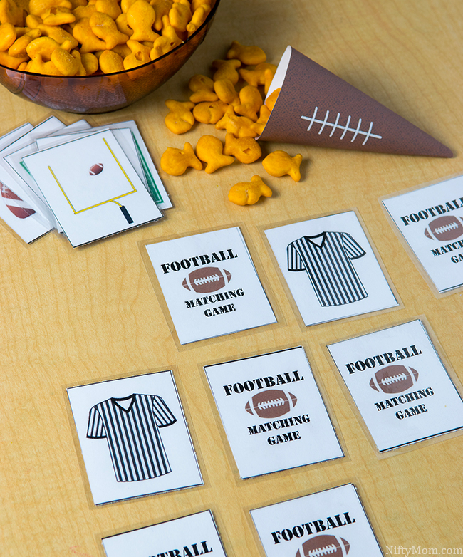 Free Printable Football Matching Game for Kids