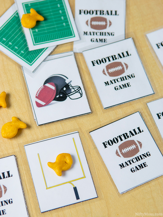 Free Printable Football Matching Game for Preschoolers