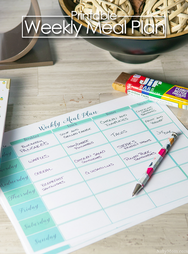 Free Printable Weekly Meal Plan Sheet & Tips for Successful Meal Planning