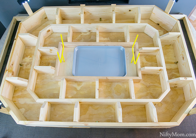 Making A Football Snack Stadium Out of Wood