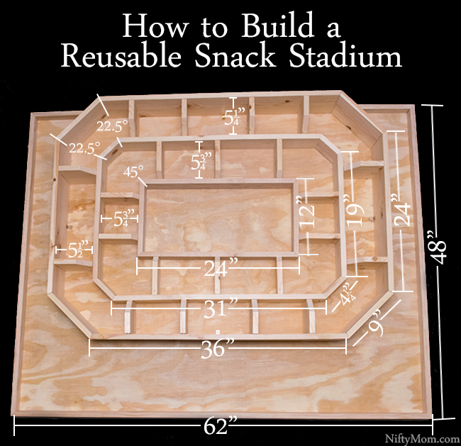 How to Build a Reusable Snack Stadium with Wood