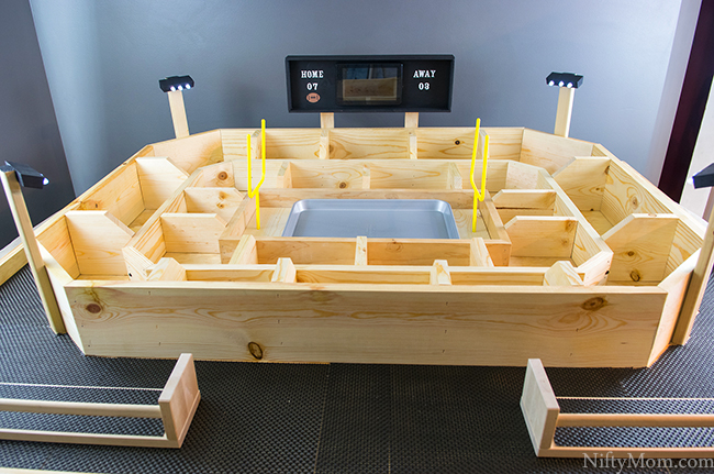 Fully Assembled Snack Stadium with Tutorial