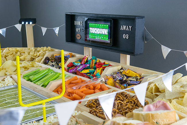 How to Make a Snack Stadium Scoreboard to Hold a Tablet
