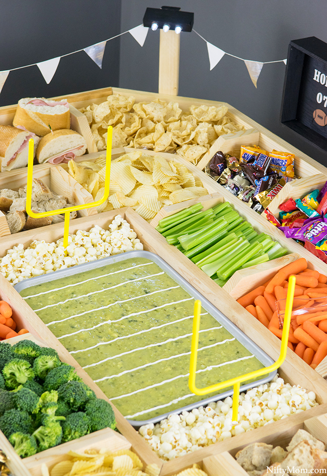 How to Make a Football Field Snack Stadium