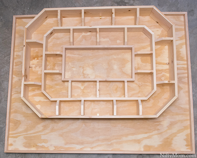 Step-by-Step Instructions on how to make a Snack Stadium out of Wood