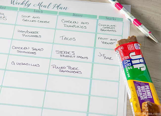 photograph relating to Weekly Meal Planning Printable called Printable Weekly Supper System