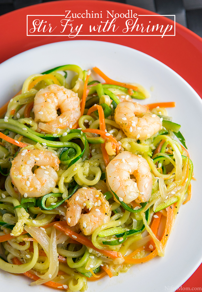 Easy Zucchini Noodle Stir Fry with Shrimp Recipe