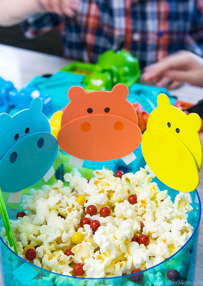 Hungry Hungry Hippos Game Night Ideas (with printable template for hippos)