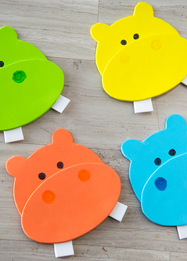 Hungry Hungry Hippos Printable Craft Idea - Great for parties or family game night!
