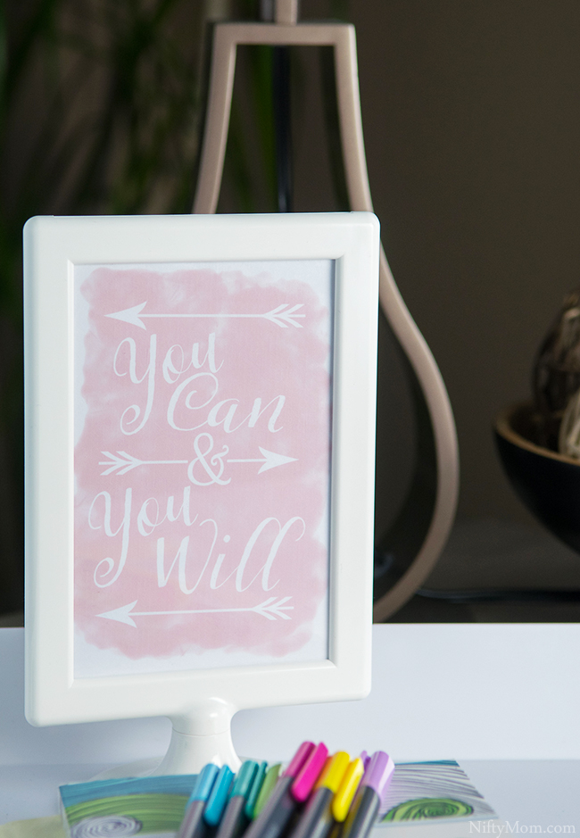 You Can & You Will Printable Quote