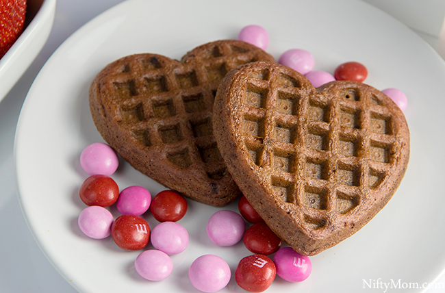 Chocolate Strawberry Dessert Waffles