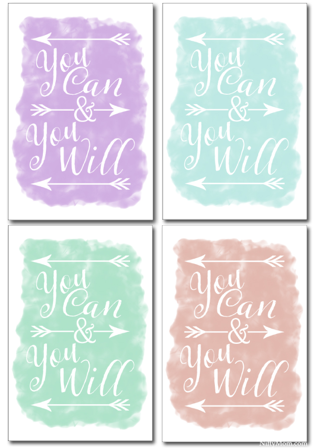 You Can & You Will Printable Quotes