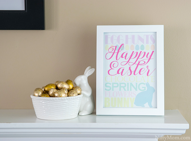 Easter Subway Art - Free 5x7 Printable