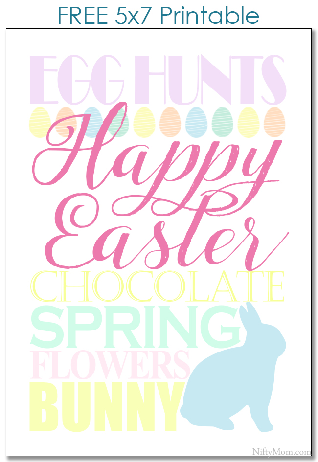 Easter Subway Art – Free 5×7 Printable