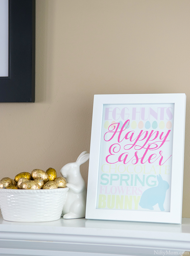 Happy Easter Print - Free 5x7 Printable