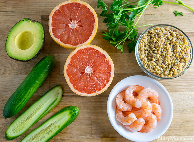 Shrimp & Grapefruit Cucumber Rolls Recipe Ingredients