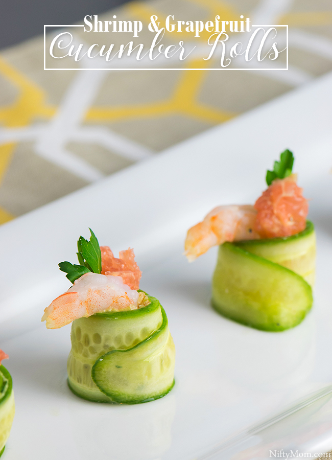 Shrimp & Grapefruit Cucumber Rolls Appetizer Recipe
