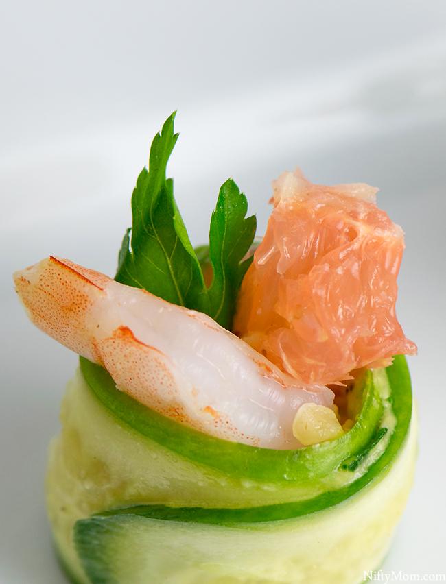 Shrimp & Grapefruit Cucumber Rolls Recipe