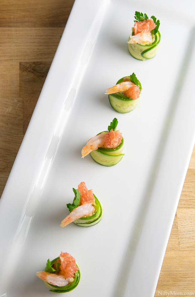 Shrimp & Grapefruit Cucumber Rolls Recipe