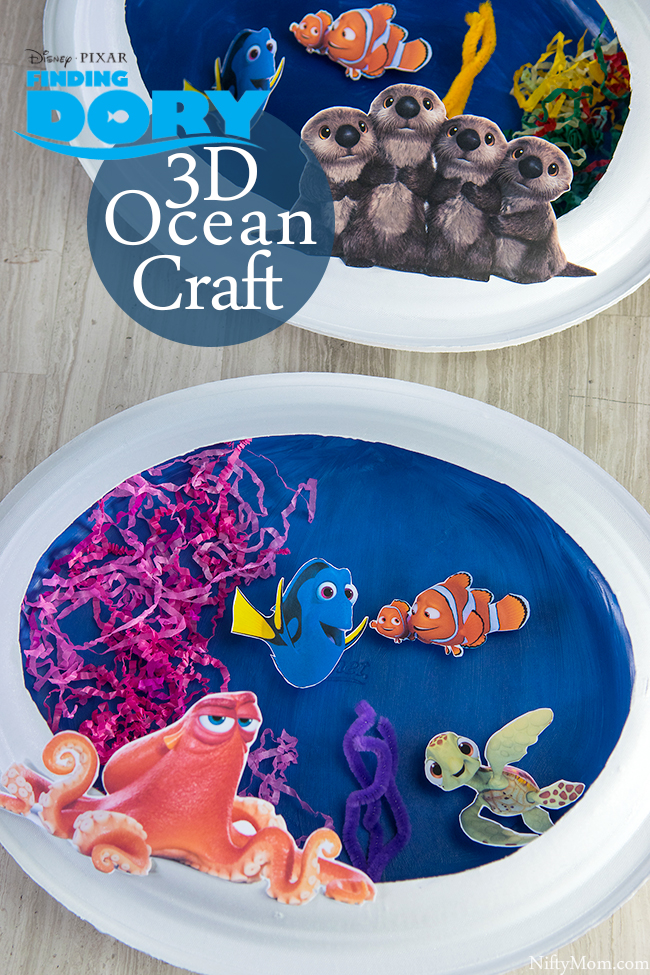 FINDING DORY Ocean Scene Kids Activity with Printable Cutouts
