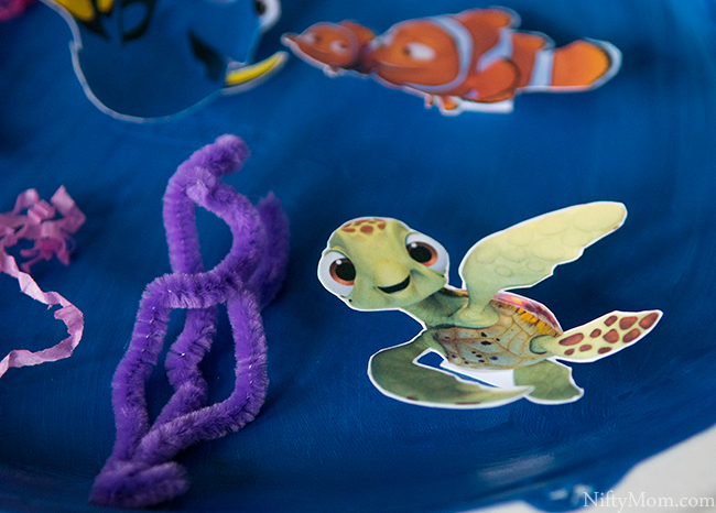 FINDING DORY Craft - 3D Ocean Scene Activity with Character Cutouts