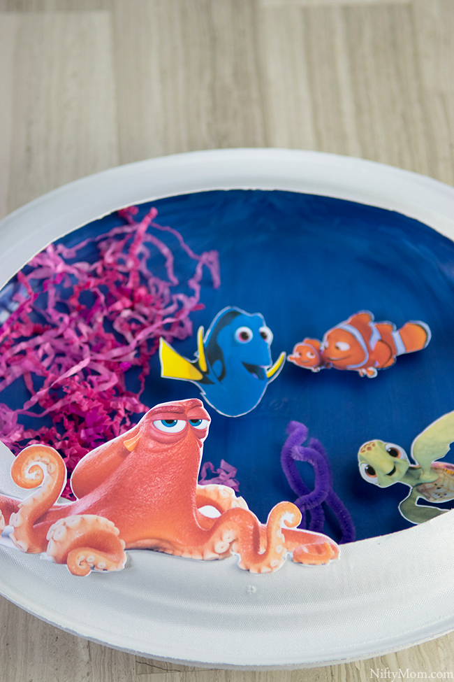 FINDING DORY Craft - 3D Ocean Scene Activity with Paper Plates