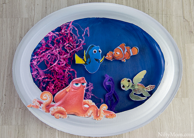Finding dory craft 3d ocean scene activity for Finding dory crafts for preschoolers