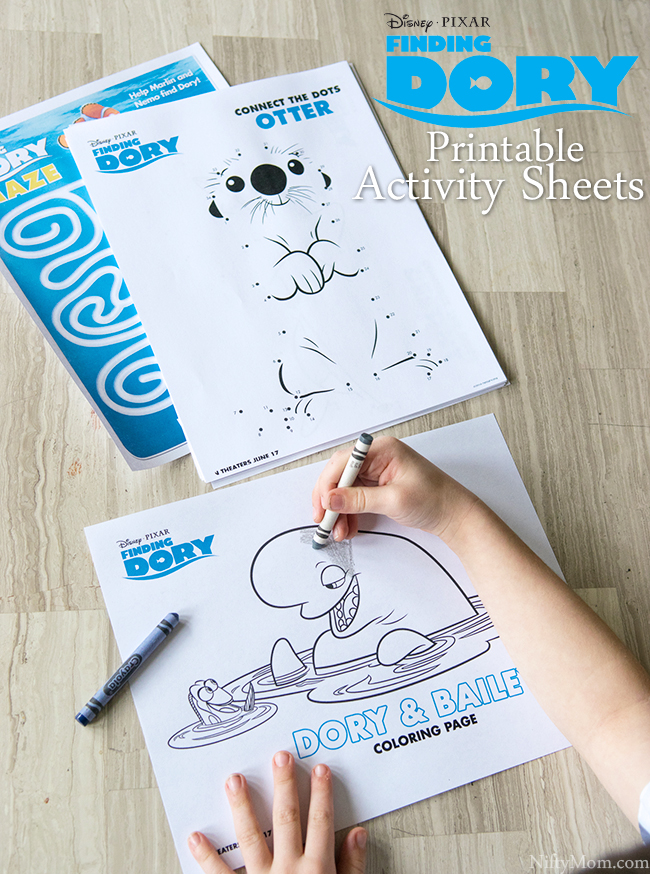 FINDING DORY Free Printable Coloring & Activity Sheets