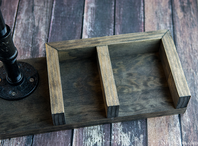 How to Make a Wooden Catch-All Organizer with Phone Dock & Lamp