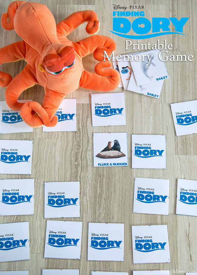 FINDING DORY Free Printable Memory Game & more activity sheets
