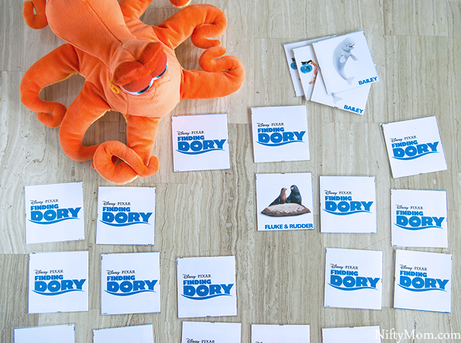 FINDING DORY Free Printable Memory Game