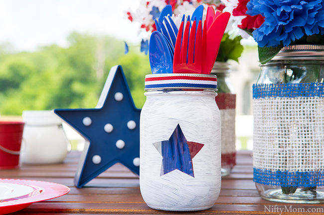 DIY Painted Mason Jars & Outdoor Table Decor Ideas