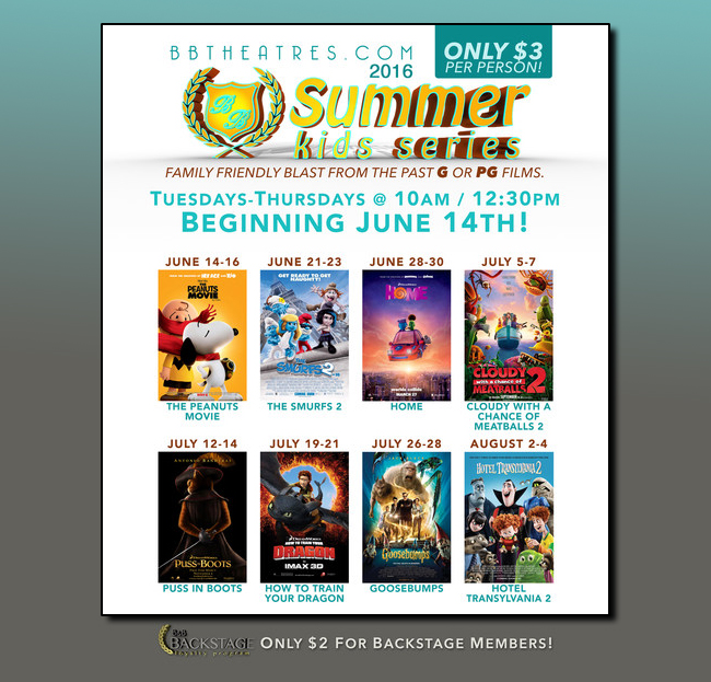 B&B Theatres Summer Kids Series 2016 Schedule