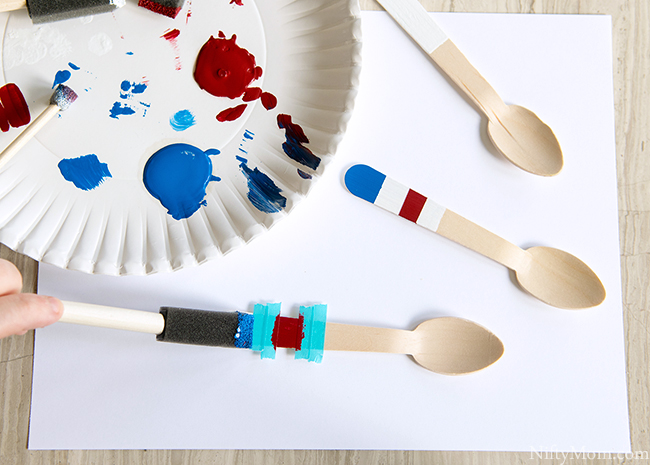 DIY Painted Patriotic Wooden Spoons