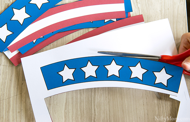 Printable Patriotic Treat Cup Wrappers
