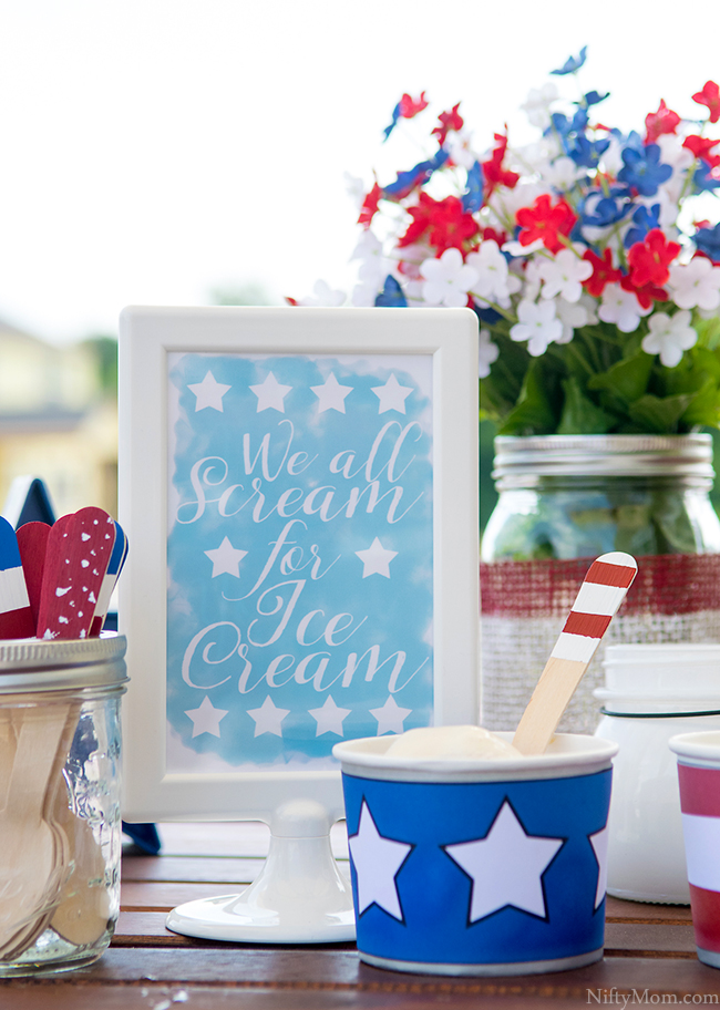 We all Scream for Ice Cream 4x6 Printable