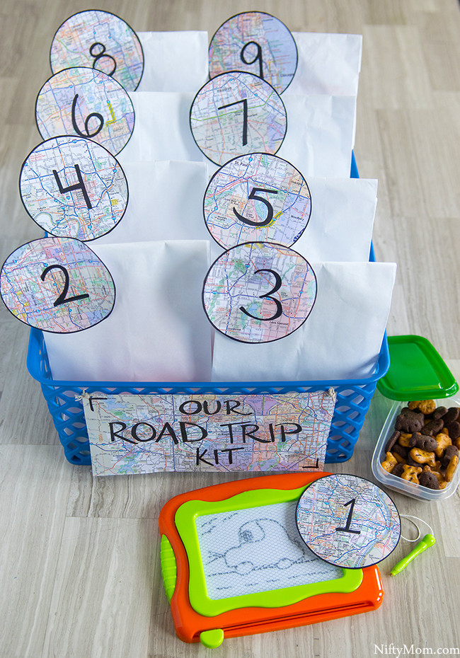 Traveling with Kids - DIY Road Trip Kit Idea & Activities